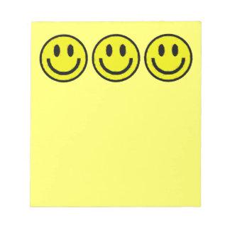 YELLOW SMILEYS MEMO PAD