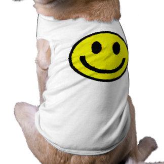 YELLOW SMILEYS PET T-SHIRT