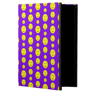 Yellow Smilies on Purple Case For iPad Air
