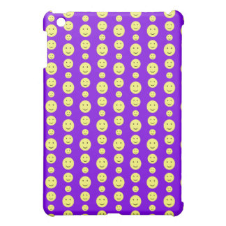 Yellow Smilies on Purple Cover For The iPad Mini