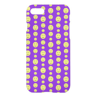 Yellow Smilies on Purple iPhone 8/7 Case