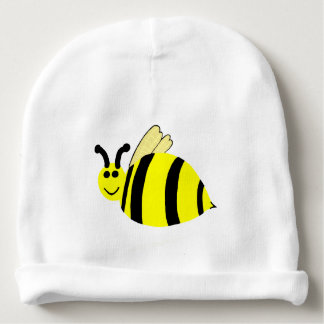 Yellow Smiling Bumble Bee Baby Hat