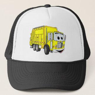 Yellow Smiling Garbage Truck Cartoon Trucker Hat