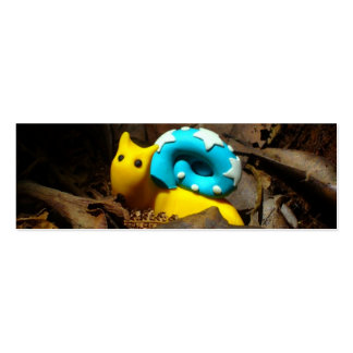Yellow snail amidst Autumn leaves Business Cards