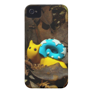 Yellow snail amidst Autumn leaves iPhone 4 Cases