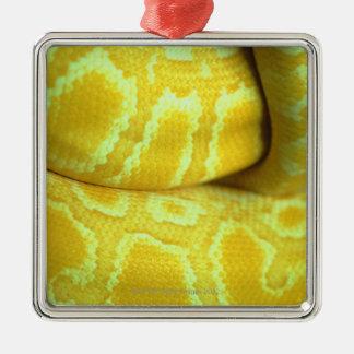Yellow snakeskin metal ornament
