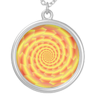 Yellow Snakeskin Spiral Necklace