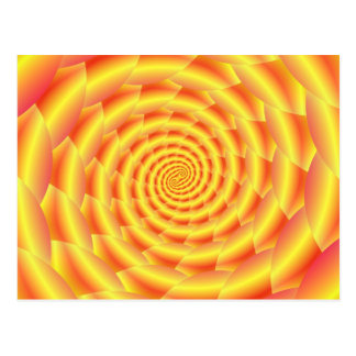 Yellow Snakeskin Spiral  Post Card