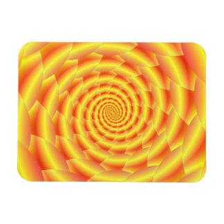 Yellow Snakeskin Spiral Flexible Magnet