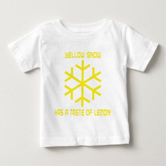 yellow snow has a taste of lemon baby T-Shirt