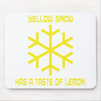 yellow snow has a taste of lemon mouse pad