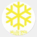 yellow snow has a taste of lemon classic round sticker