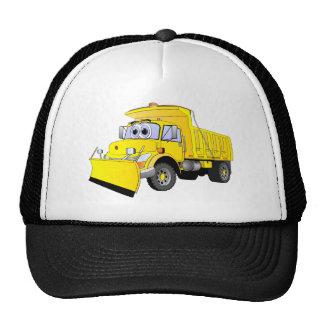 Yellow Snow Plow Cartoon Mesh Hats