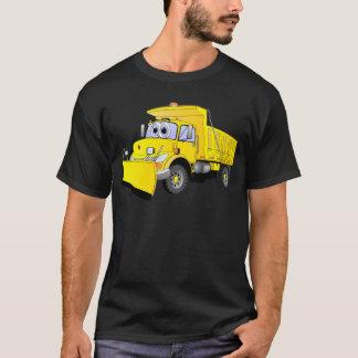 Yellow Snow Plow Cartoon T-Shirt