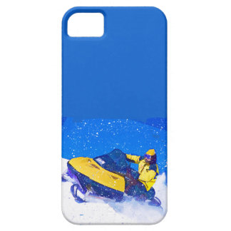 Yellow Snowmobile in Blizzard iPhone 5 Cases