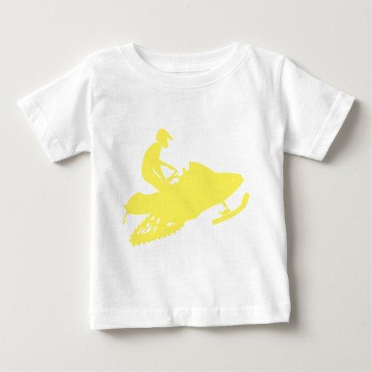Yellow-Snowmobiler Baby T-Shirt