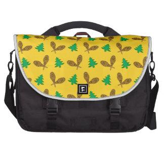 yellow snowshoe pattern bag for laptop