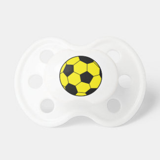 Yellow Soccer Ball Baby Pacifiers