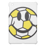 yellow soccer ball smiley face cover for the iPad mini