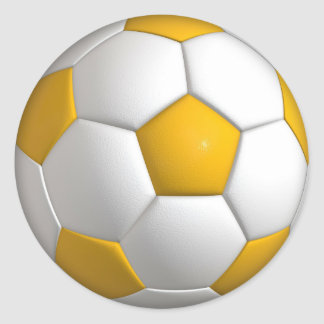 Yellow Soccer Ball Stickers