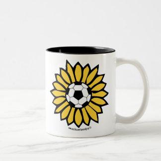 Yellow Soccer Daisy Two-Tone Coffee Mug