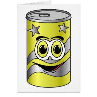Yellow Soda Can Cartoon Card