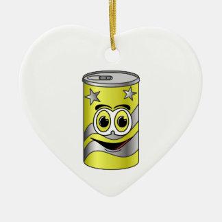 Yellow Soda Can Cartoon Ceramic Ornament