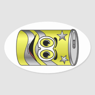 Yellow Soda Can Cartoon Stickers