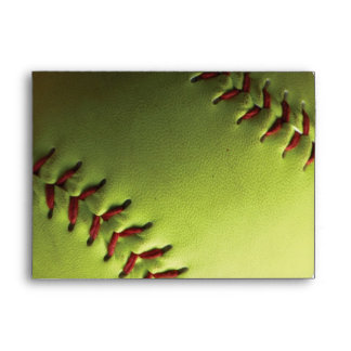 Yellow Softball Backed Envelope