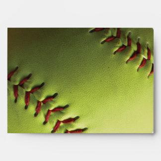 Yellow Softball Backed Envelope
