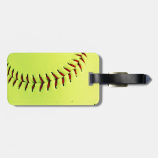 Yellow softball ball bag tag