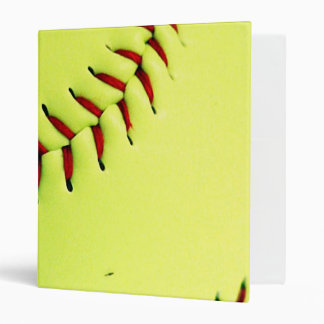 Yellow softball ball binder