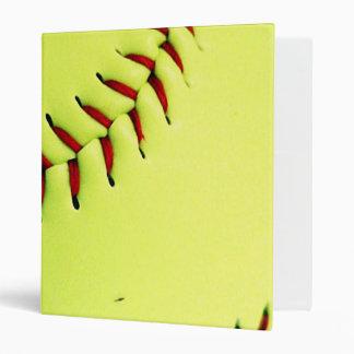 Yellow softball ball binder