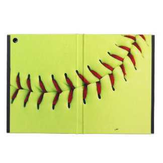 Yellow softball ball case for iPad air