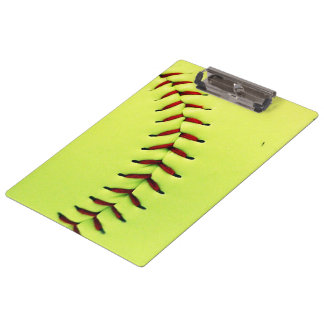 Yellow softball ball clipboard