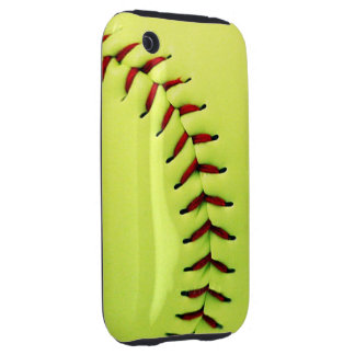 Yellow softball ball iPhone 3 tough cover