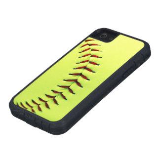 Yellow softball ball iPhone 5 cases