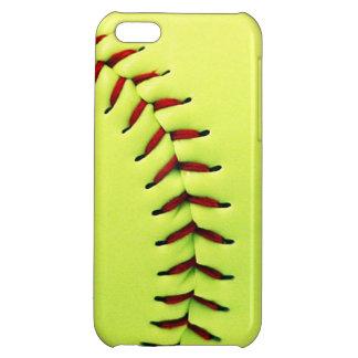 Yellow softball ball iPhone 5C covers