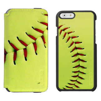 Yellow softball ball iPhone 6/6s wallet case