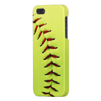 Yellow softball ball cases for iPhone 5