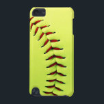 "Yellow softball ball iPod touch (5th generation) cover<br><div class=""desc"">Yellow ball of softball  More customization options are available when you click the ""Customize it"" button above.</div>"
