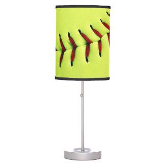 Yellow softball ball lamp