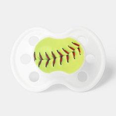 Yellow Softball Ball Pacifier at Zazzle