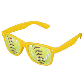 Yellow softball ball retro sunglasses