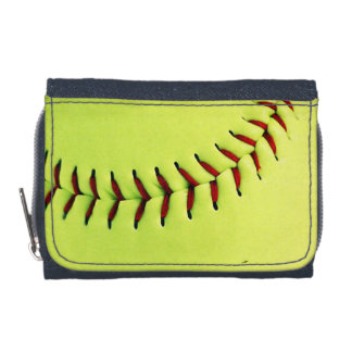 Yellow softball ball wallets