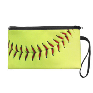 Yellow softball ball wristlet