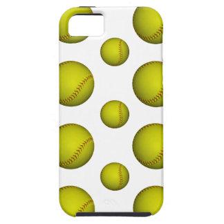 Yellow Softball / Baseball Pattern iPhone 5 Cases