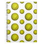 Yellow Softball / Baseball Pattern Spiral Notebooks