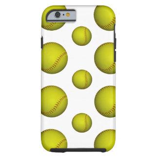 Yellow Softball / Baseball Pattern Tough iPhone 6 Case