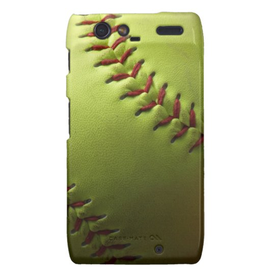 Yellow Softball Droid RAZR Cover